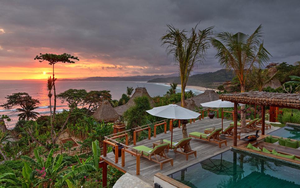 Puncak Villa at Sunset
