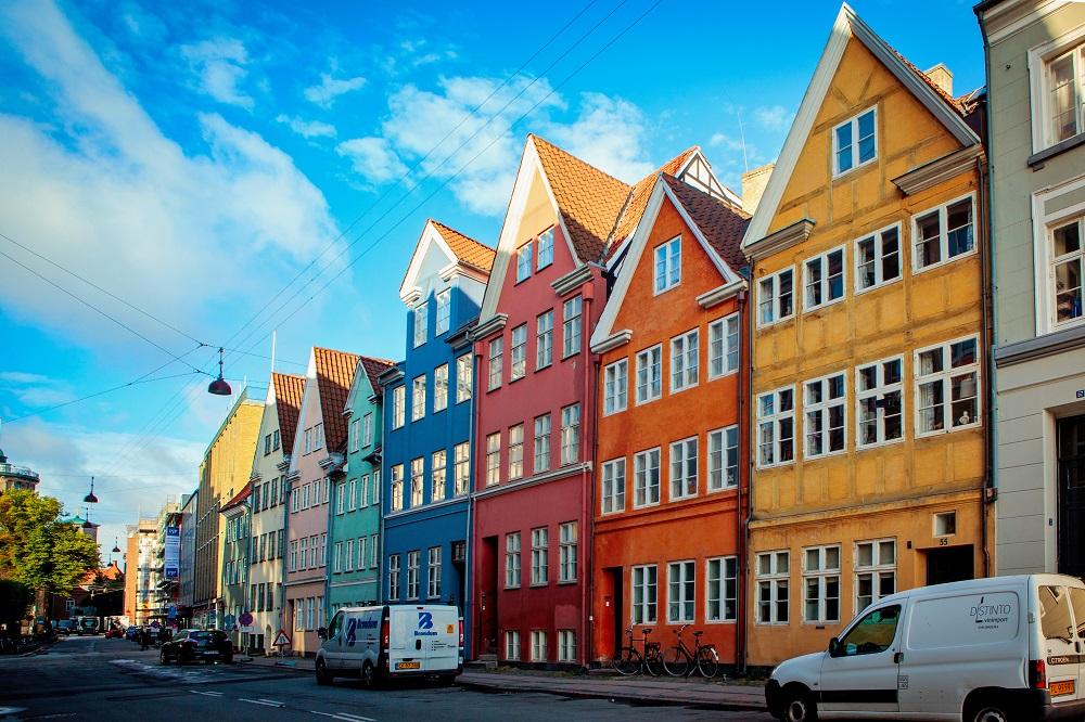 Cladiri colorate in Copenhaga, Danemarca