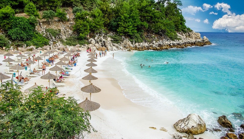 Plaja din Thassos